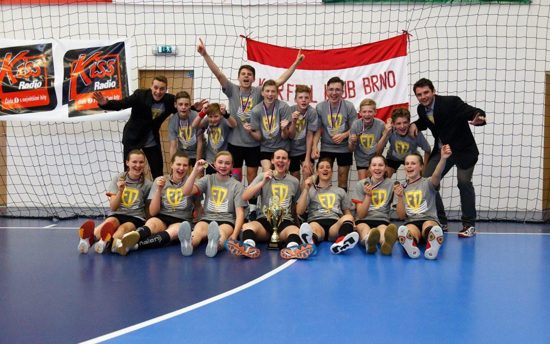 Zlato ve starších žácích ukořistili brněnští korfbalisté