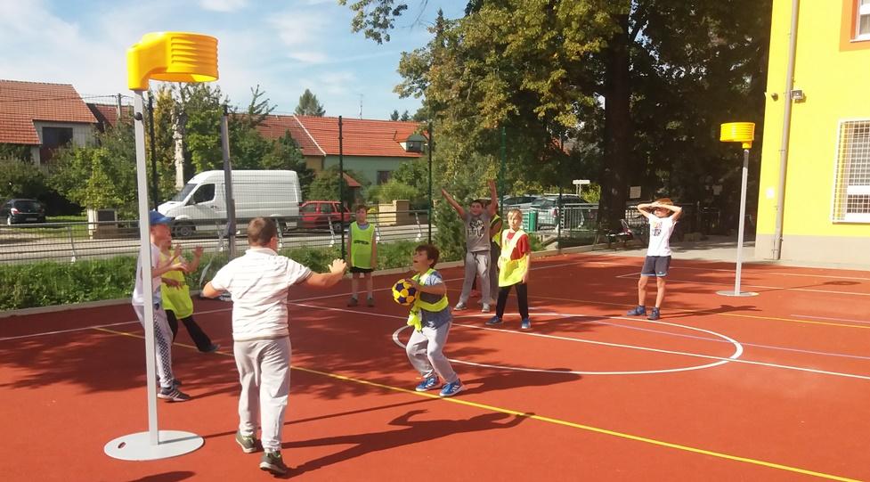 Korfbal představen na ZŠ Troubsko v okrese Brno-venkov