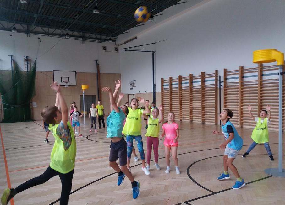 Korfbalové ukázky na ZŠ Pastviny v brněnském Komíně opět ve velkém