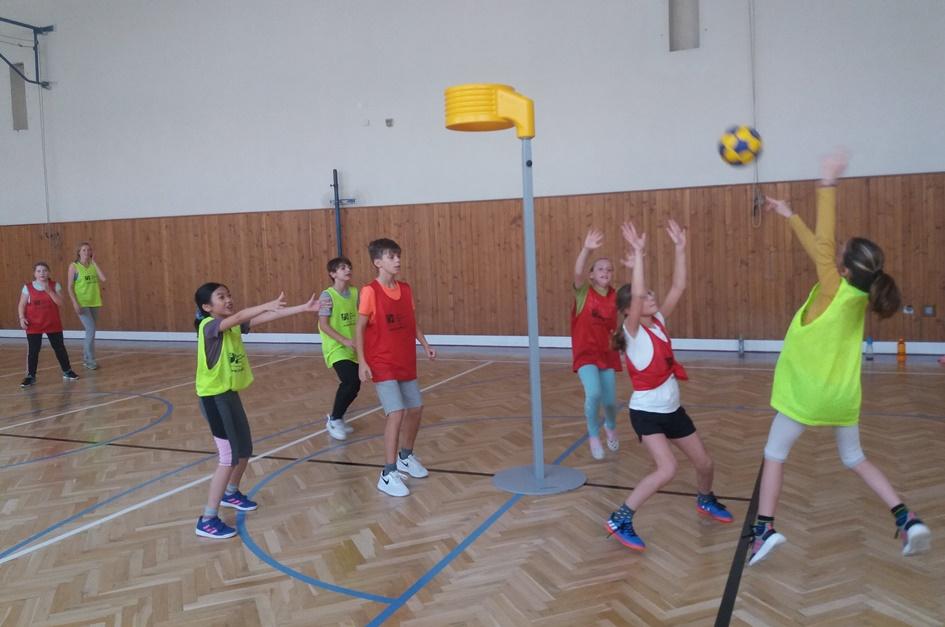 Představení korfbalu na soukromé ZŠ Didaktis v Brně